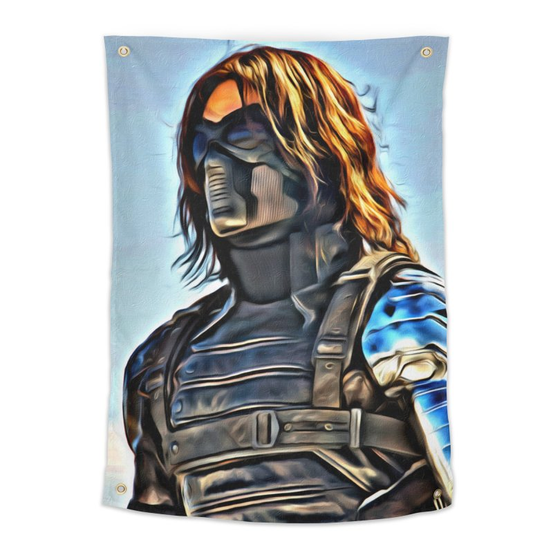 Bucky Barns - Winter Soldier Home Tapestry by Evolution Comics INC