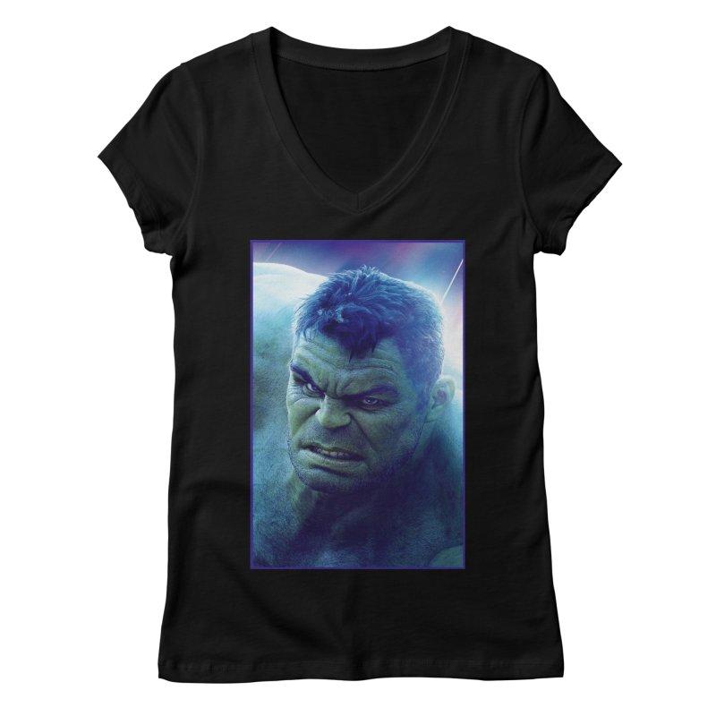 Hulk Women's Regular V-Neck by Evolution Comics INC