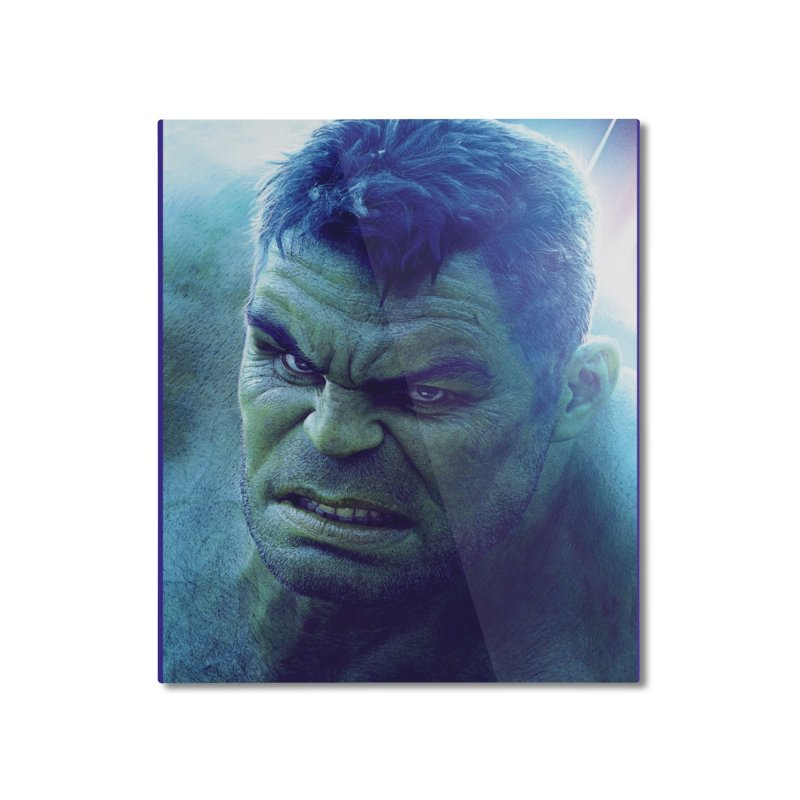 Hulk Home Mounted Aluminum Print by Evolution Comics INC
