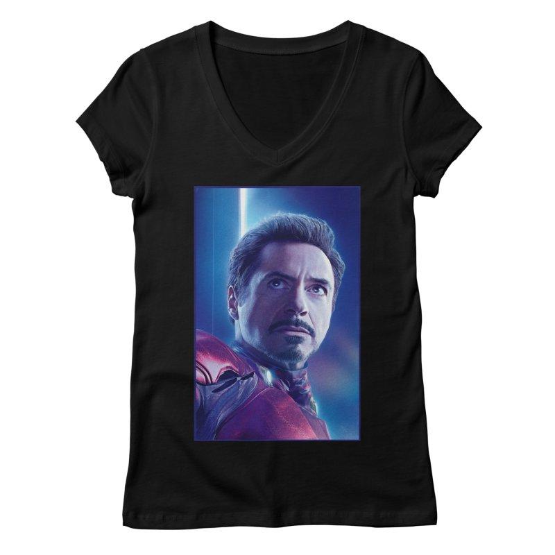 Iron Man - Tony Stark Women's Regular V-Neck by Evolution Comics INC