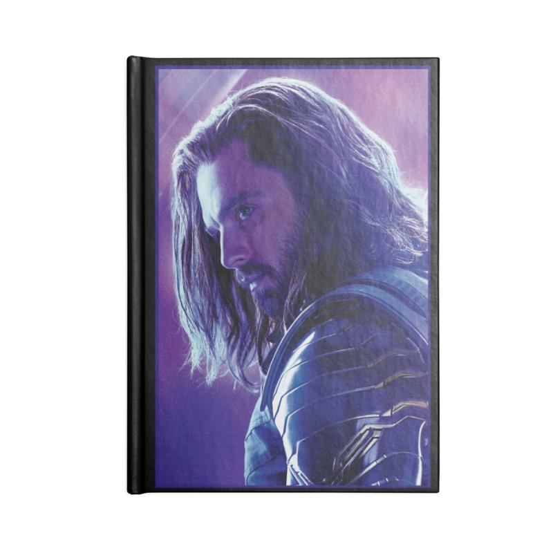 Bucky Barnes - Winder Soldier - Infinity Endgame Accessories Blank Journal Notebook by Evolution Comics INC