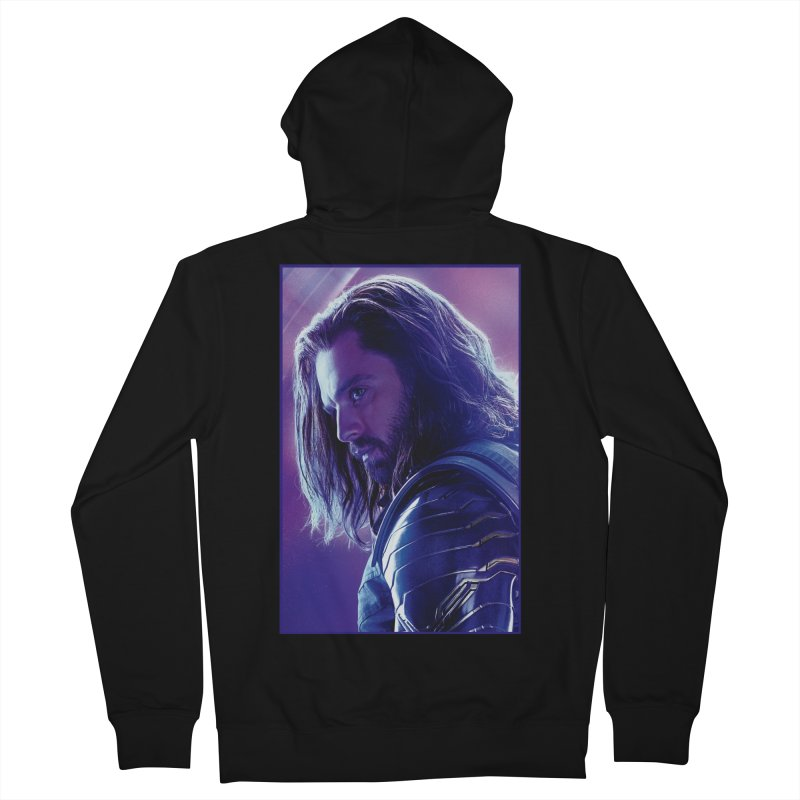 Bucky Barnes - Winder Soldier - Infinity Endgame Men's French Terry Zip-Up Hoody by Evolution Comics INC