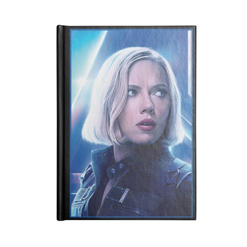 Black Widow Blonde Accessories Blank Journal Notebook by Evolution Comics INC