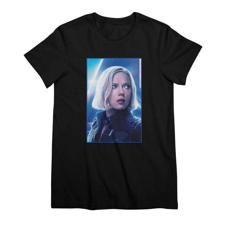 Black Widow Blonde Women's Premium T-Shirt by Evolution Comics INC