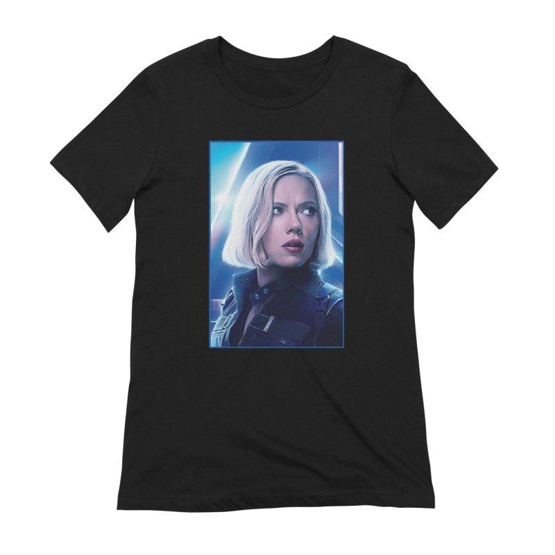 Black Widow Blonde Women's Extra Soft T-Shirt by Evolution Comics INC