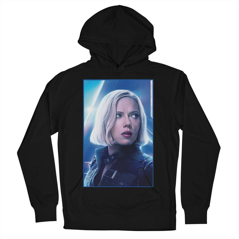 Black Widow Blonde Men's French Terry Pullover Hoody by Evolution Comics INC