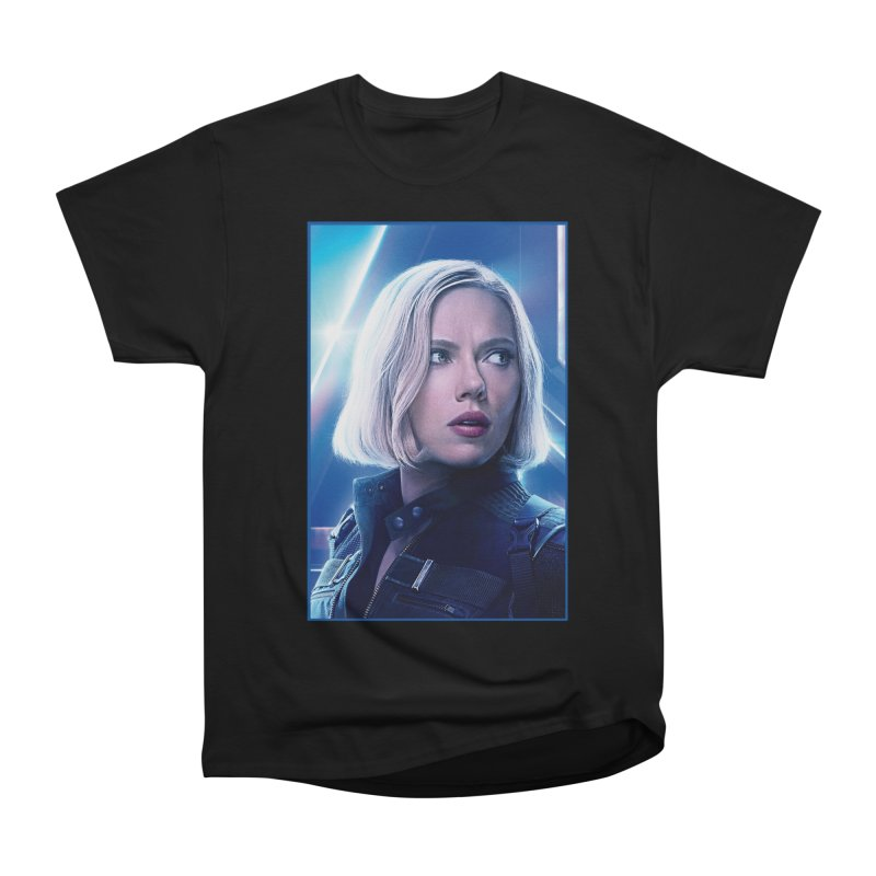 Black Widow Blonde Women's Heavyweight Unisex T-Shirt by Evolution Comics INC