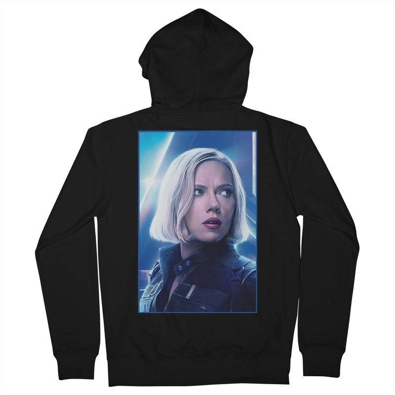 Black Widow Blonde Men's French Terry Zip-Up Hoody by Evolution Comics INC