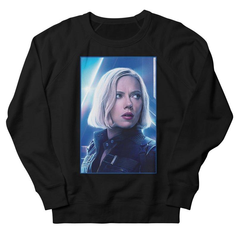 Black Widow Blonde Men's French Terry Sweatshirt by Evolution Comics INC