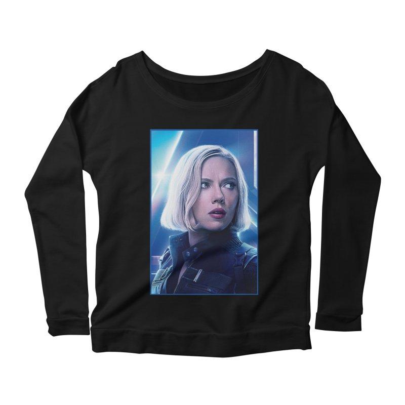 Black Widow Blonde Women's Scoop Neck Longsleeve T-Shirt by Evolution Comics INC