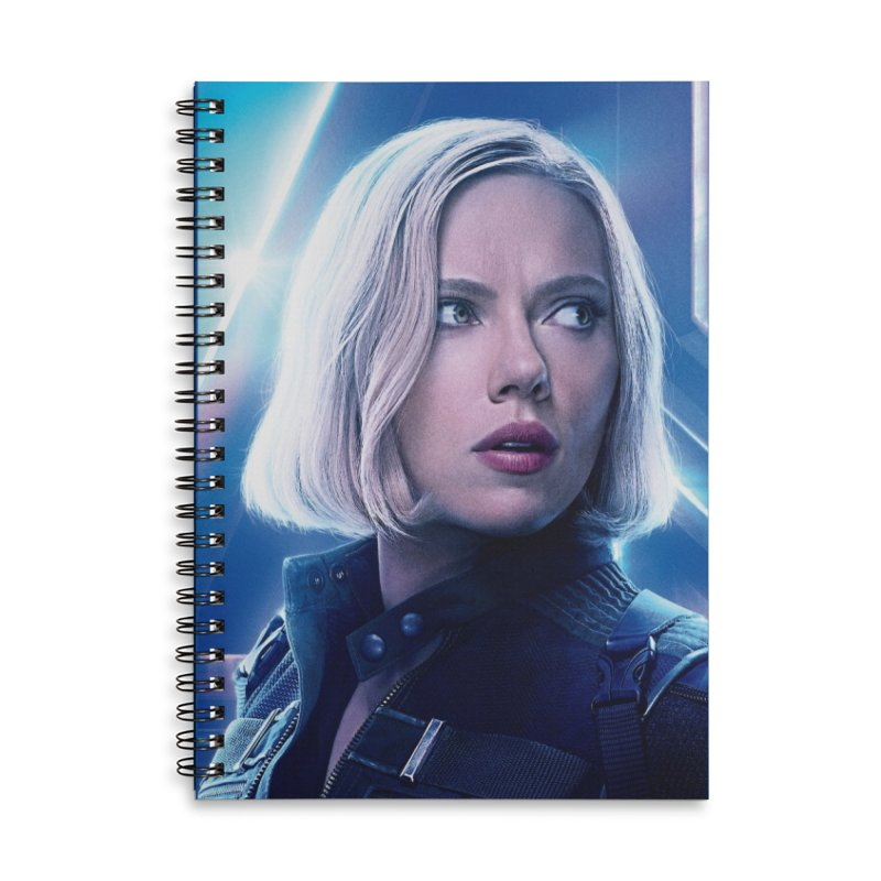 Black Widow Blonde Accessories Lined Spiral Notebook by Evolution Comics INC