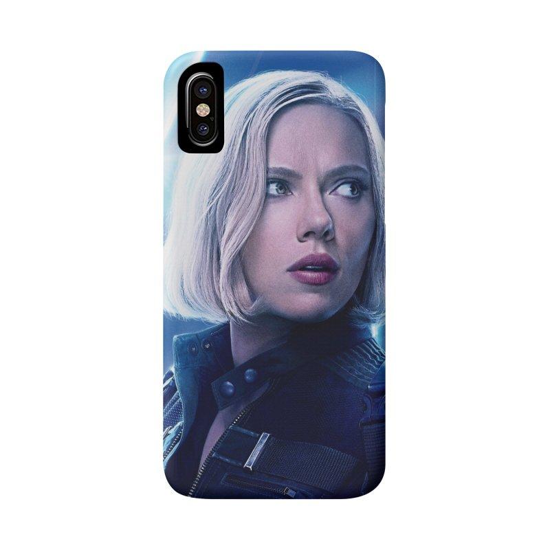 Black Widow Blonde Accessories Phone Case by Evolution Comics INC