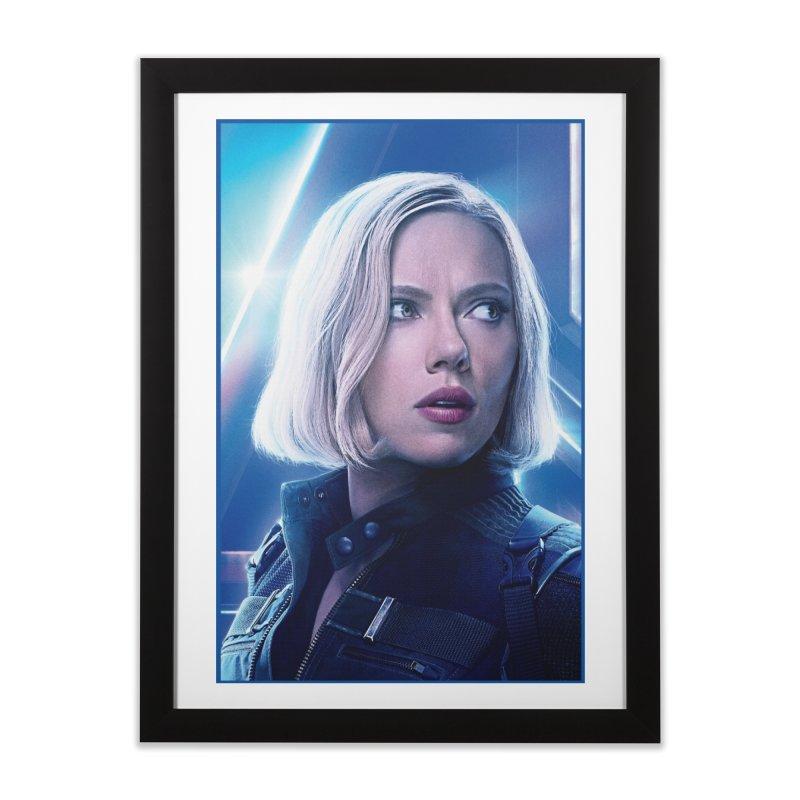 Black Widow Blonde Home Framed Fine Art Print by Evolution Comics INC