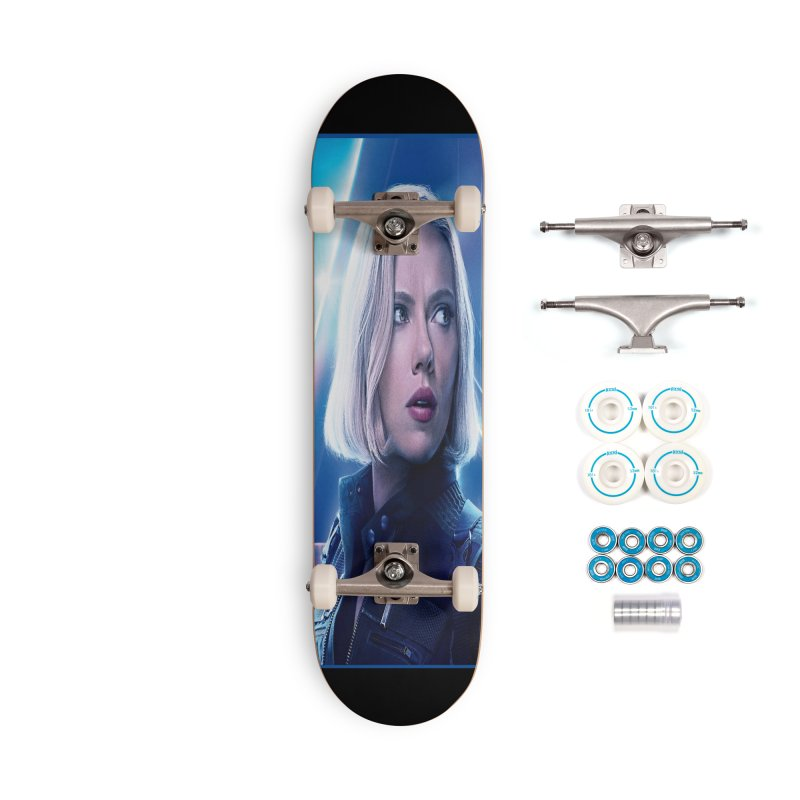 Black Widow Blonde Accessories Complete - Basic Skateboard by Evolution Comics INC