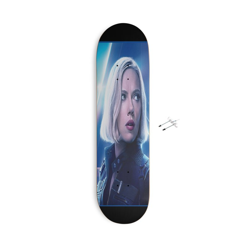 Black Widow Blonde Accessories With Hanging Hardware Skateboard by Evolution Comics INC