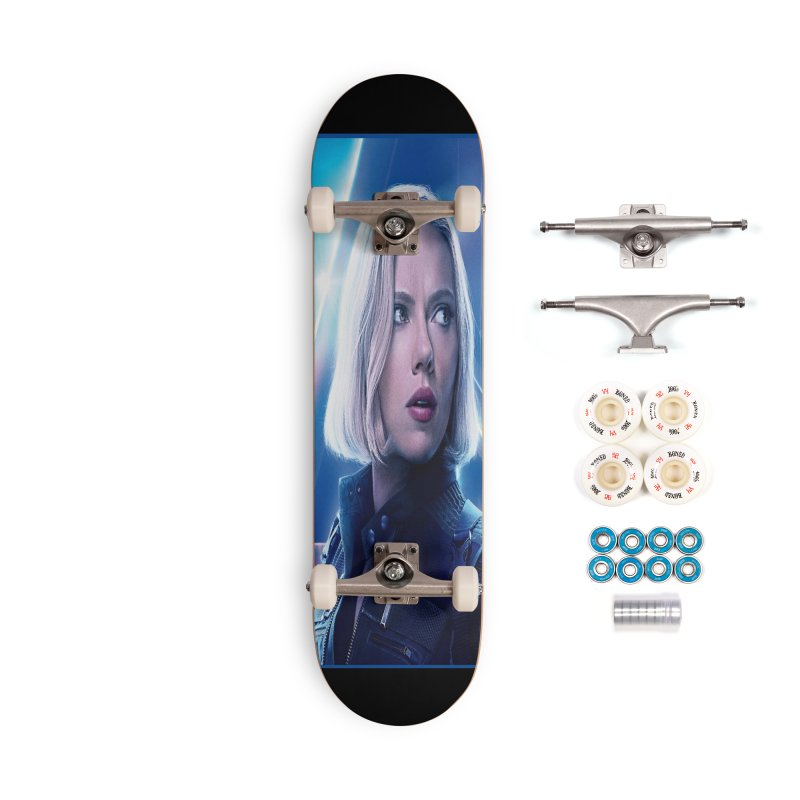 Black Widow Blonde Accessories Complete - Premium Skateboard by Evolution Comics INC