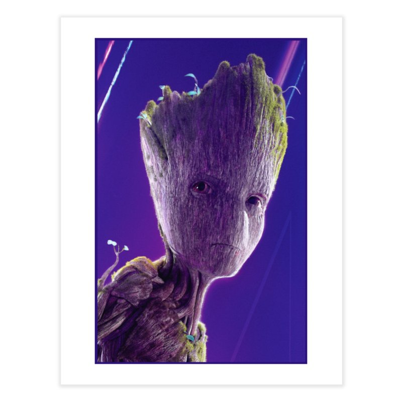 Groot (Teen) Home Fine Art Print by Evolution Comics INC