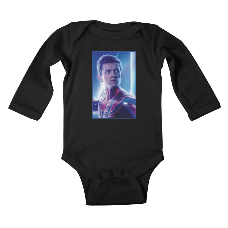 Spider-Man (Peter Parker) Kids Baby Longsleeve Bodysuit by Evolution Comics INC