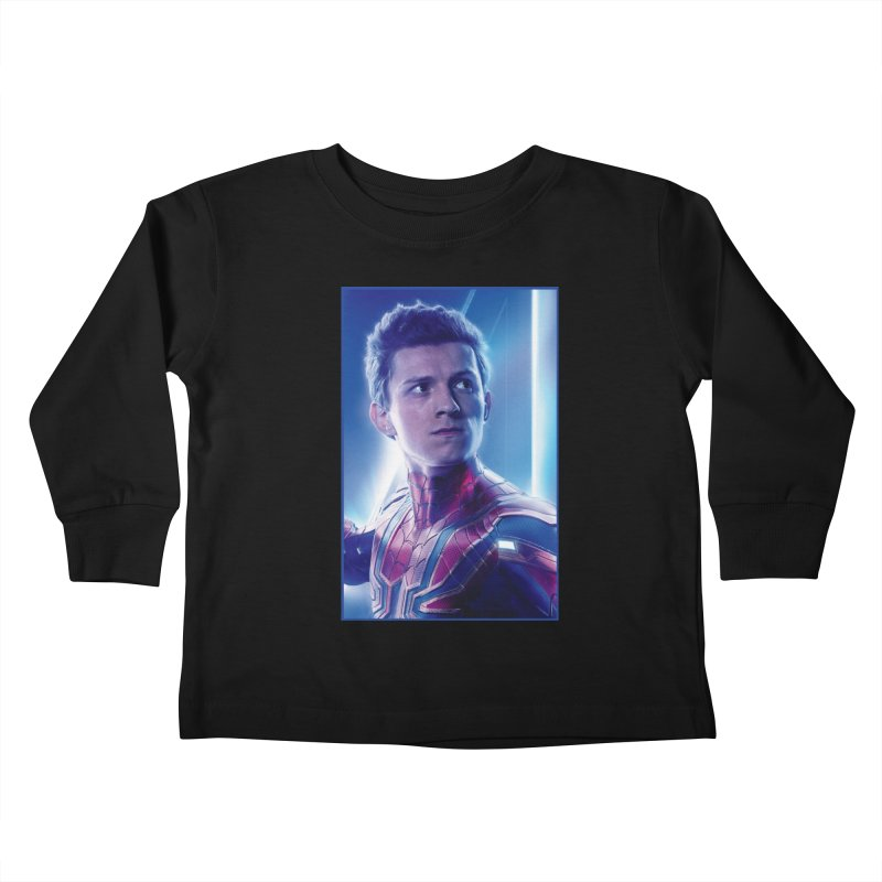 Spider-Man (Peter Parker) Kids Toddler Longsleeve T-Shirt by Evolution Comics INC