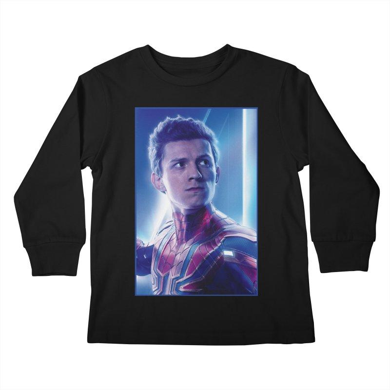 Spider-Man (Peter Parker) Kids Longsleeve T-Shirt by Evolution Comics INC