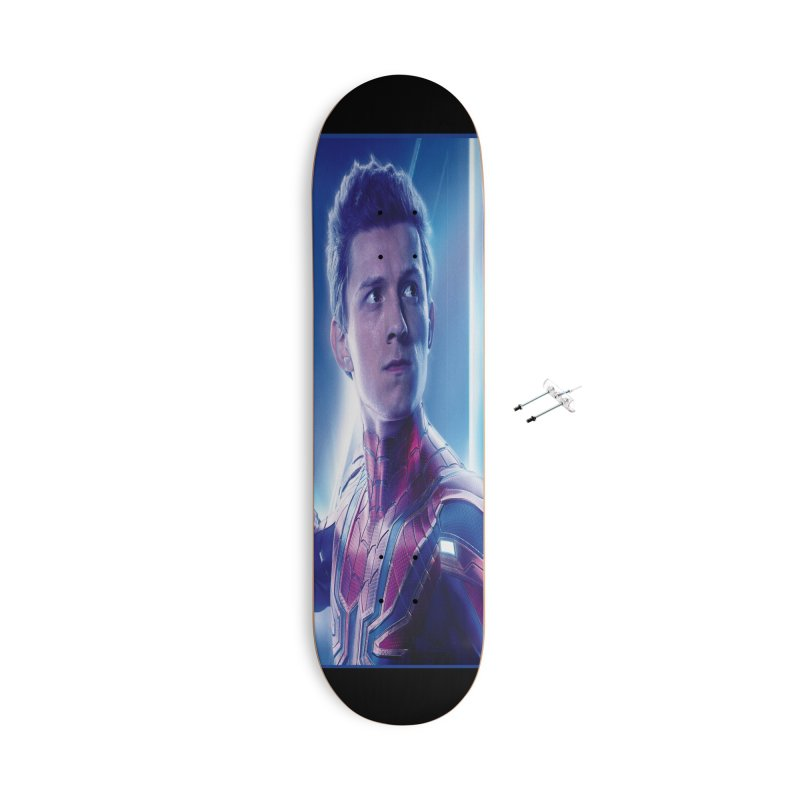 Spider-Man (Peter Parker) Accessories With Hanging Hardware Skateboard by Evolution Comics INC
