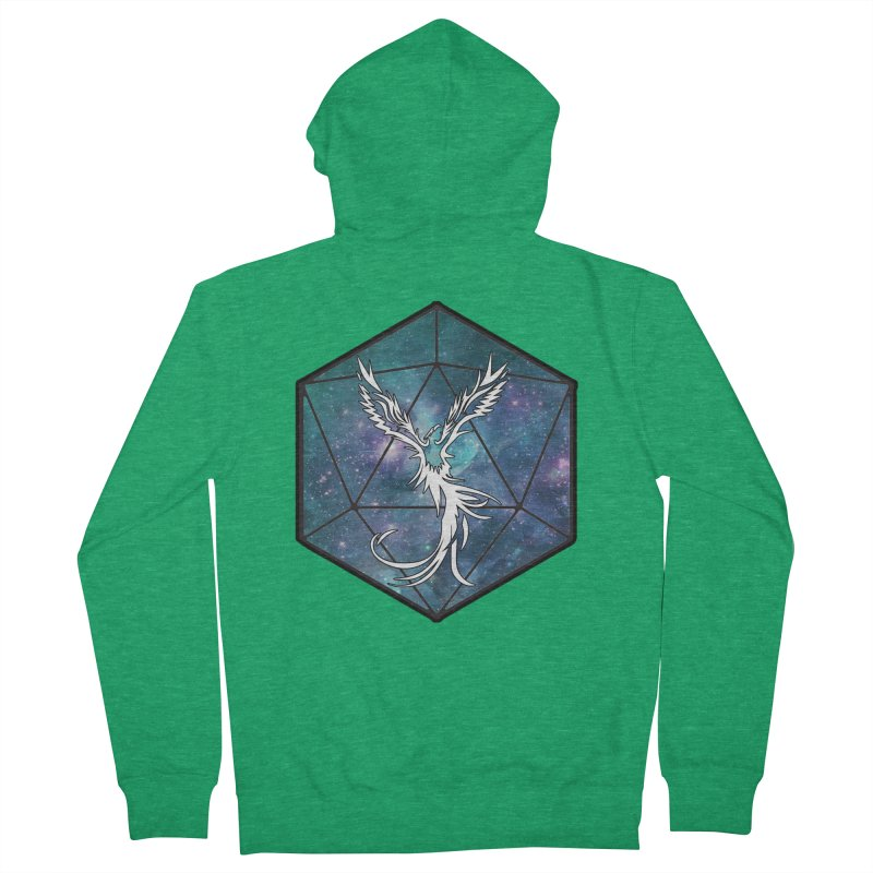 Galaxy D20 Blue Men's Zip-Up Hoody by ExcelsiorGames's Artist Shop