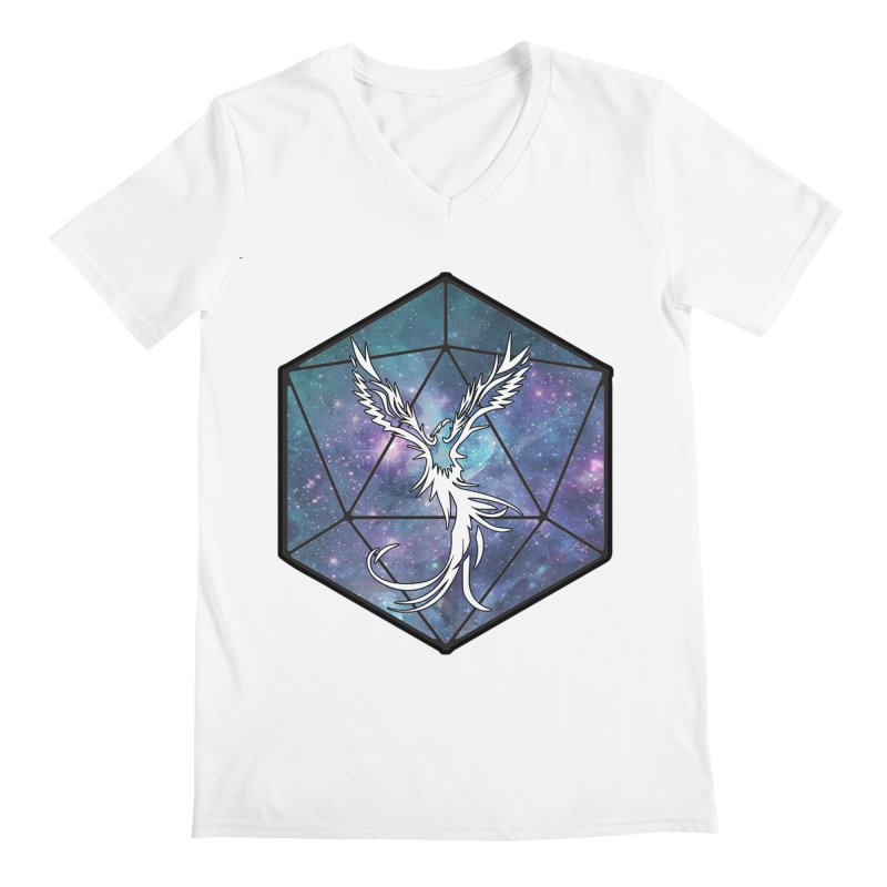 Galaxy D20 Blue Men's V-Neck by ExcelsiorGames's Artist Shop