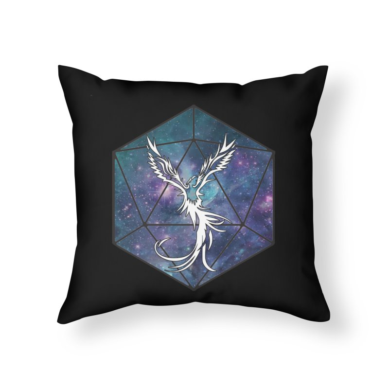 Galaxy D20 Blue Home Throw Pillow by ExcelsiorGames's Artist Shop