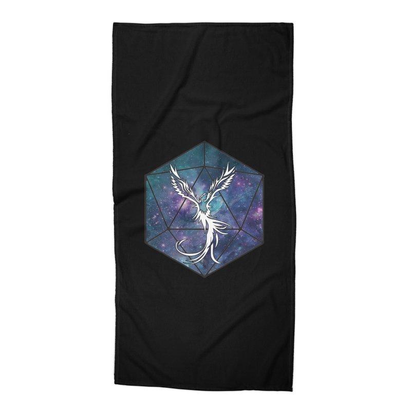 Galaxy D20 Blue Accessories Beach Towel by ExcelsiorGames's Artist Shop