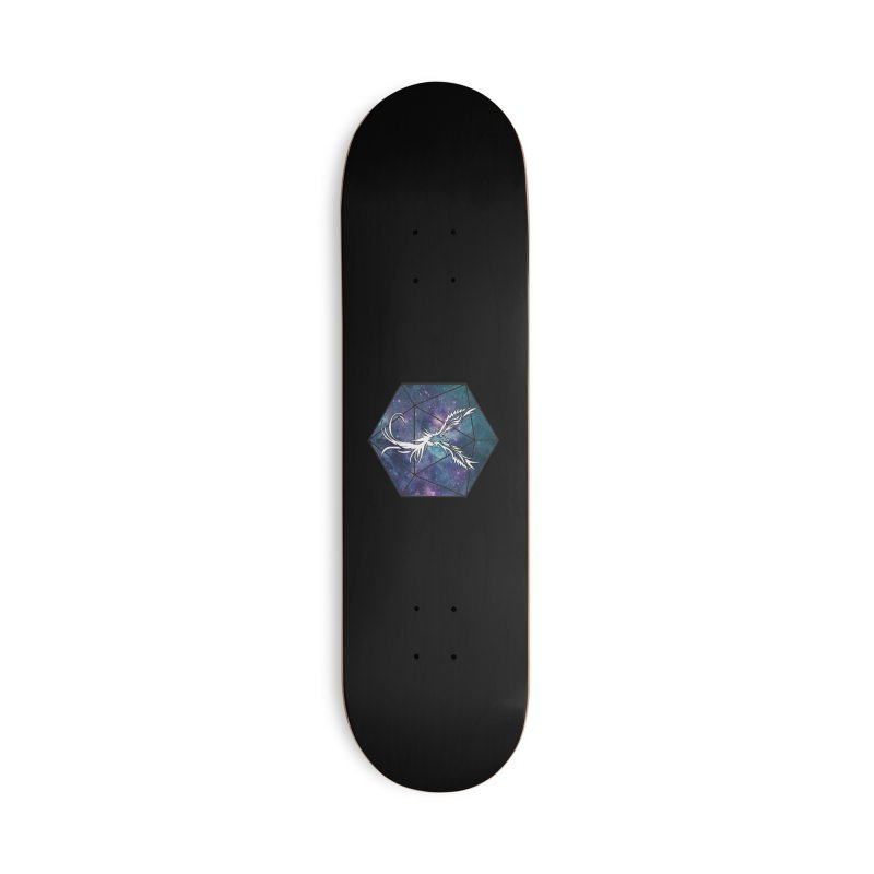 Galaxy D20 Blue Accessories Skateboard by ExcelsiorGames's Artist Shop