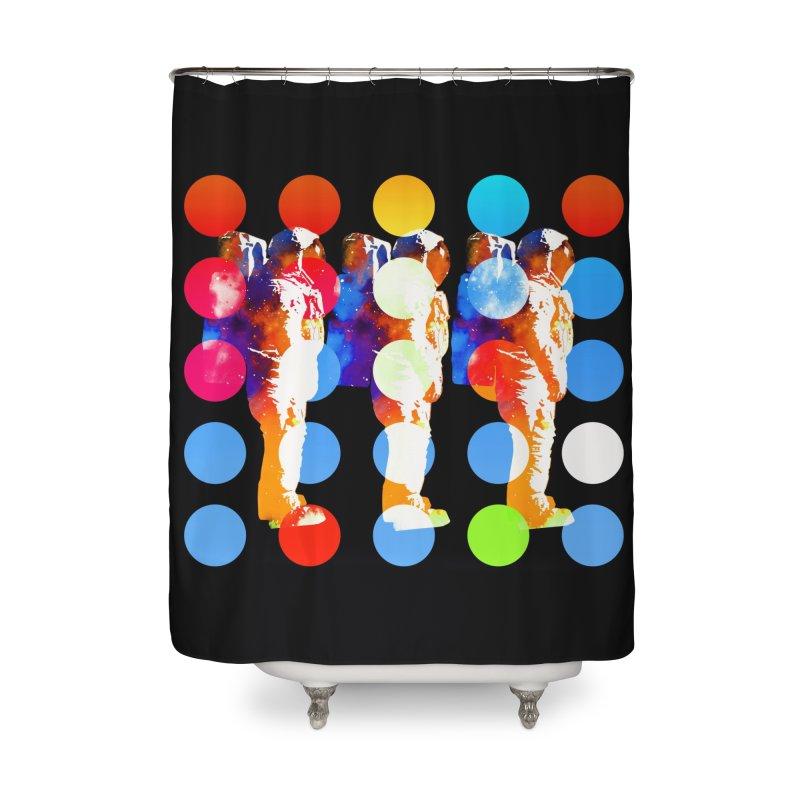 Polkanauts Home Shower Curtain by ExplorerTales's Artist Shop