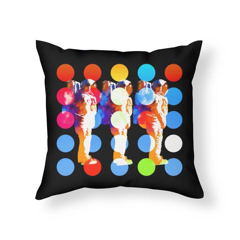 Polkanauts Home Throw Pillow by ExplorerTales's Artist Shop