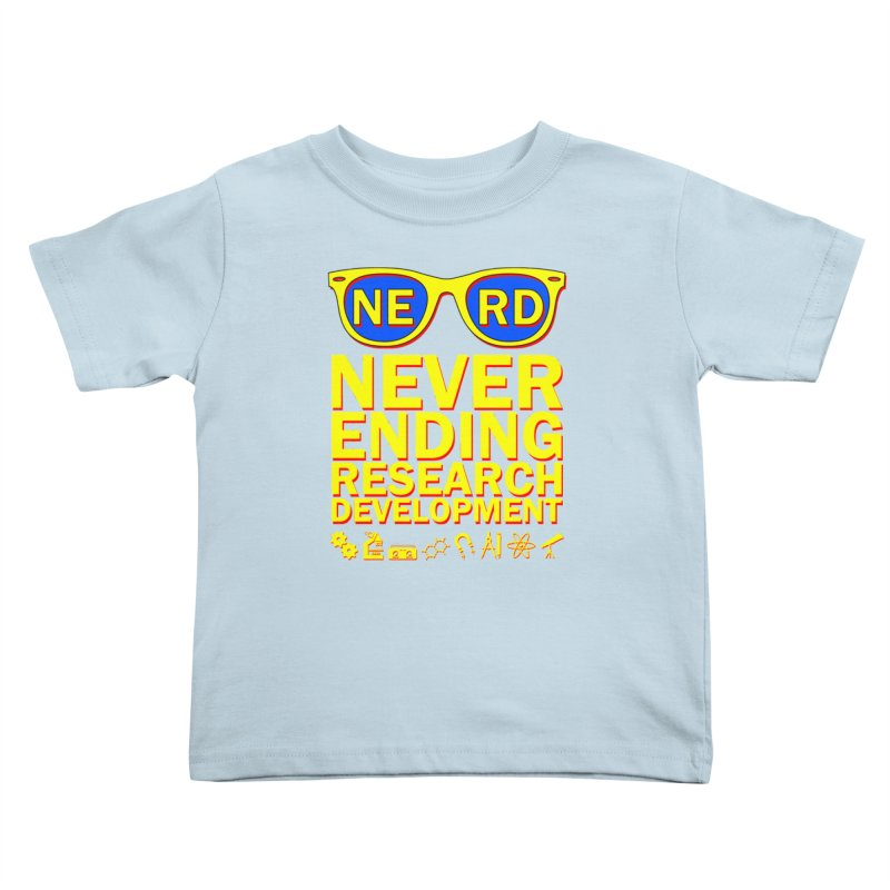 NERD Kids Toddler T-Shirt by ExplorerTales's Artist Shop