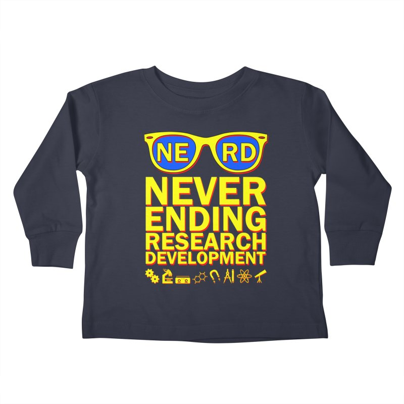 NERD Kids Toddler Longsleeve T-Shirt by ExplorerTales's Artist Shop