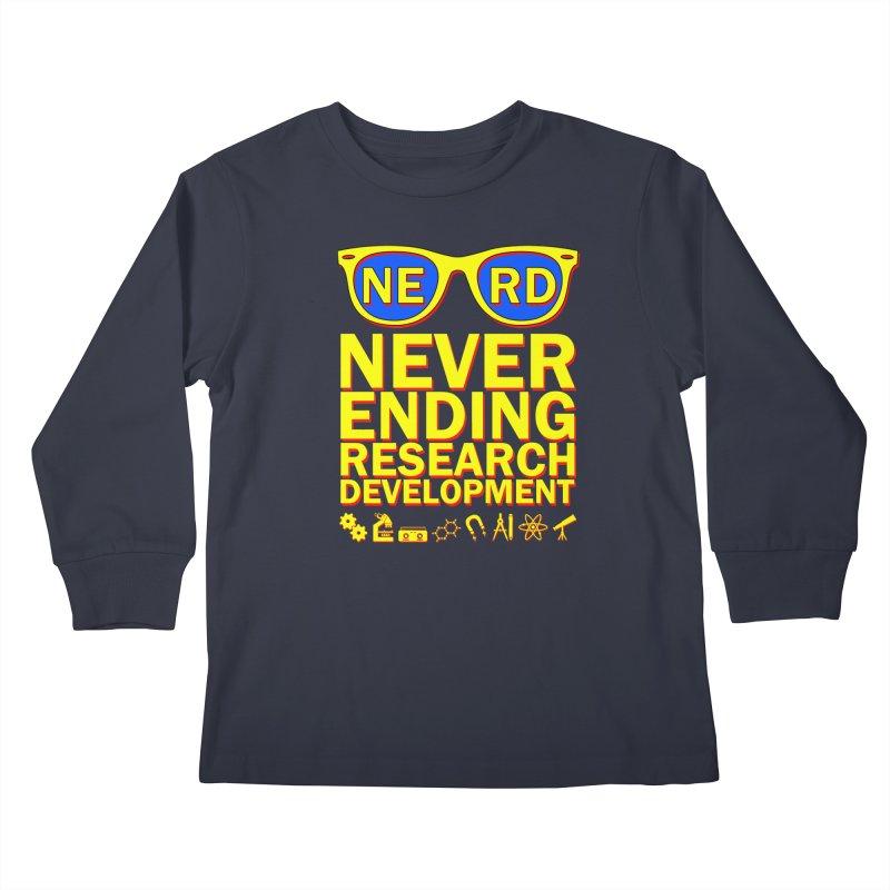 NERD Kids Longsleeve T-Shirt by ExplorerTales's Artist Shop
