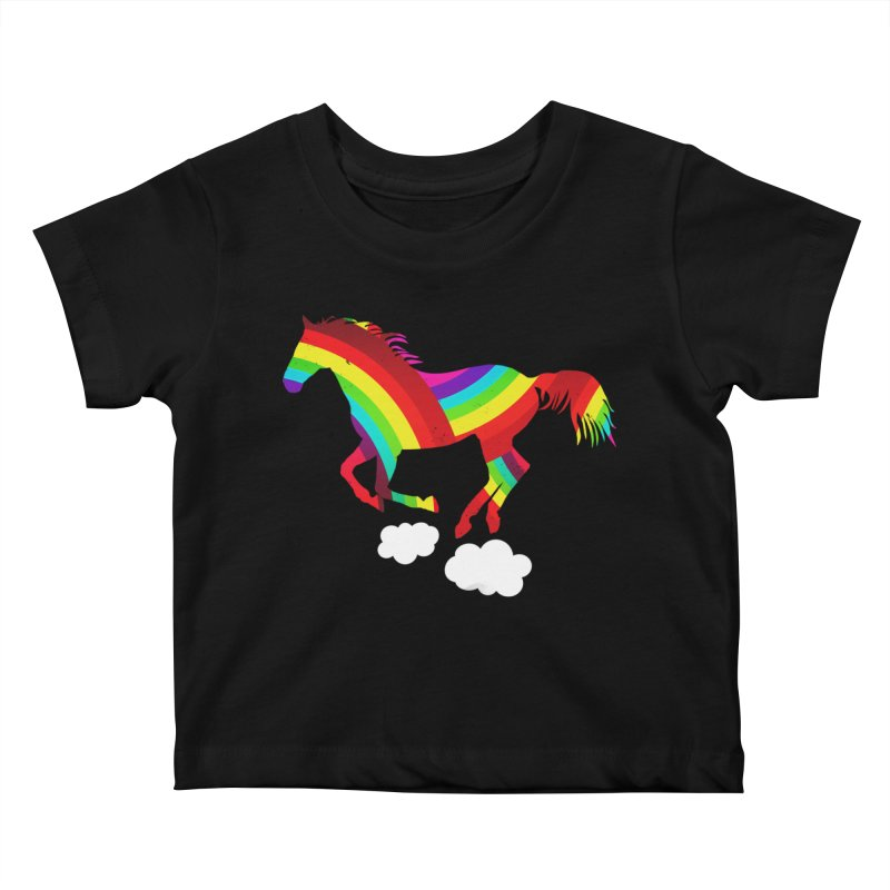 Made Of Rainbows Kids Baby T-Shirt by ExplorerTales's Artist Shop