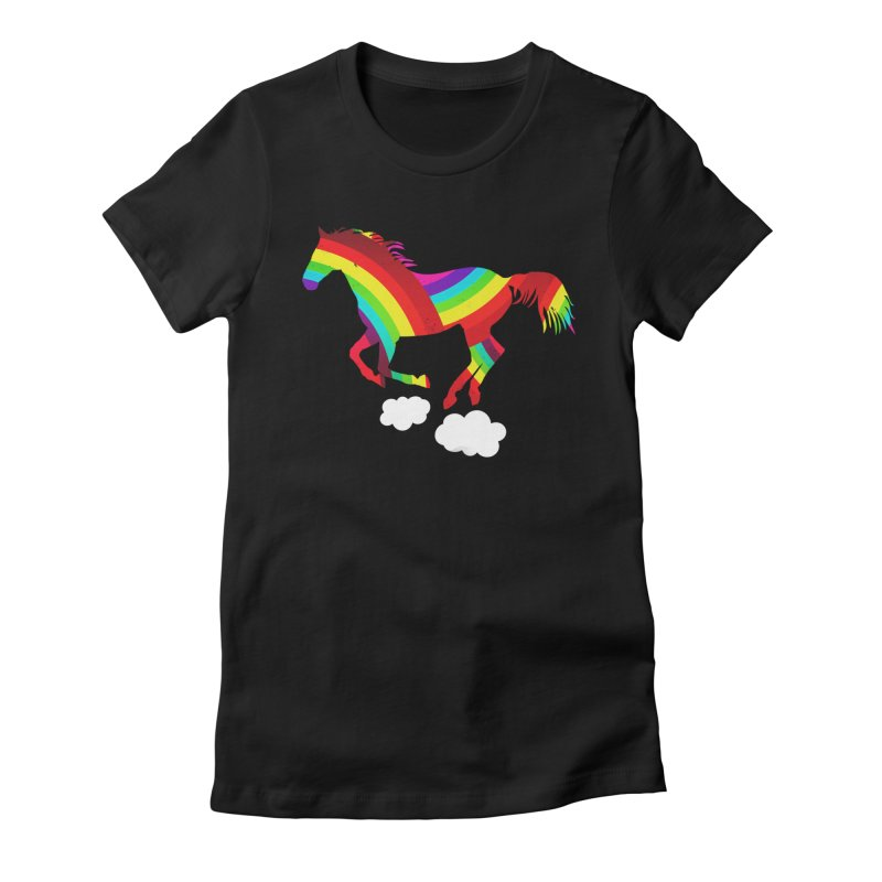Made Of Rainbows Women's Fitted T-Shirt by ExplorerTales's Artist Shop