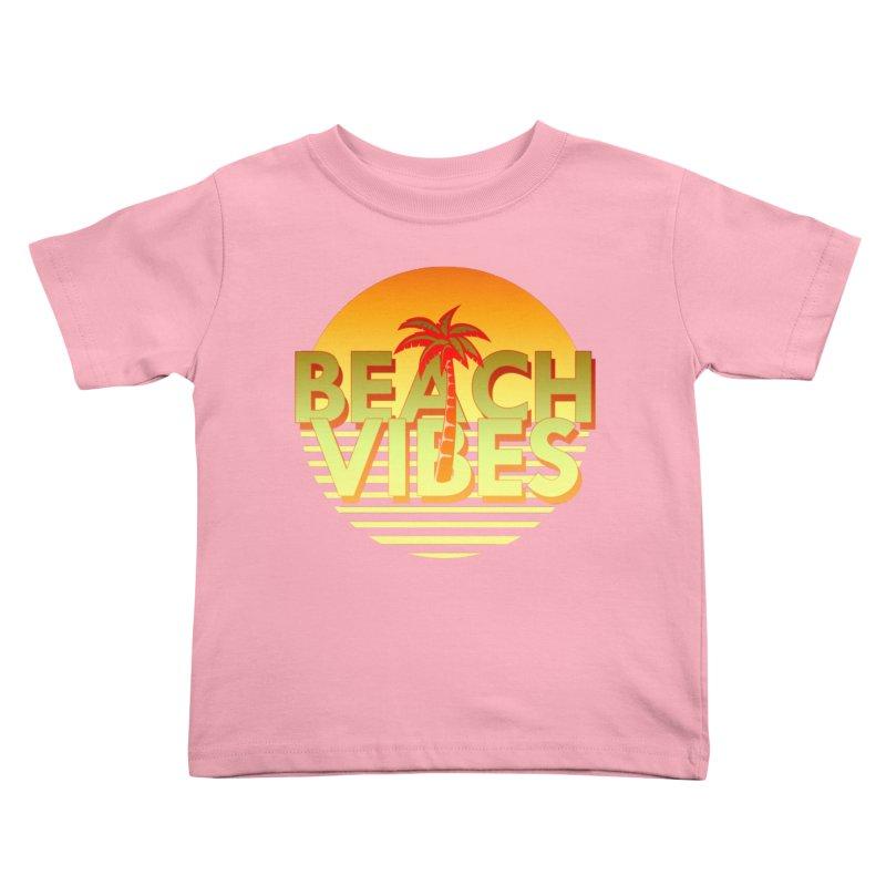 Beach Vibes Kids Toddler T-Shirt by ExplorerTales's Artist Shop