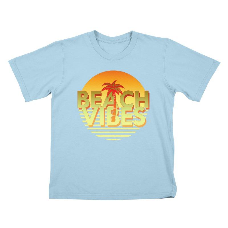 Beach Vibes Kids T-shirt by ExplorerTales's Artist Shop