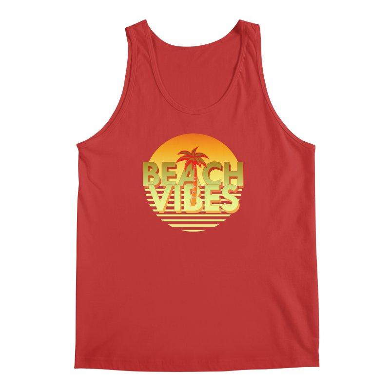 Beach Vibes Men's Tank by ExplorerTales's Artist Shop