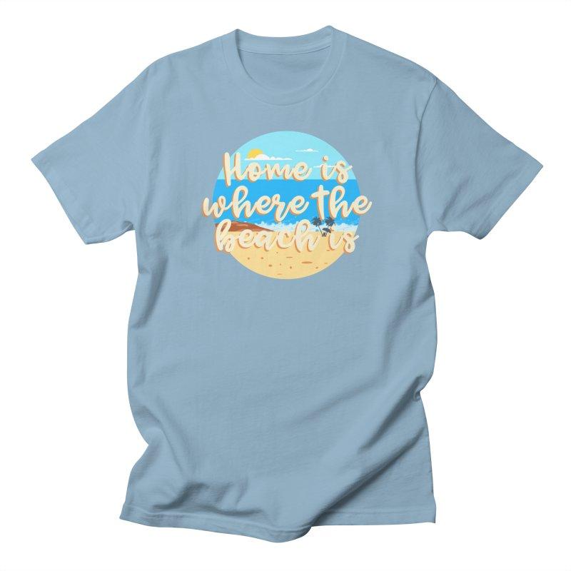 BeachLovers Men's T-Shirt by ExplorerTales's Artist Shop