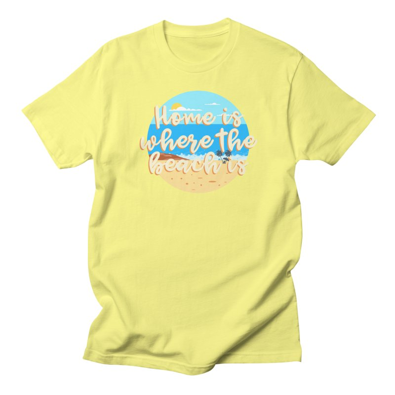 BeachLovers Men's Regular T-Shirt by ExplorerTales's Artist Shop