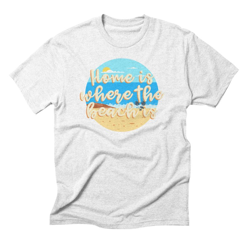 BeachLovers Men's Triblend T-shirt by ExplorerTales's Artist Shop