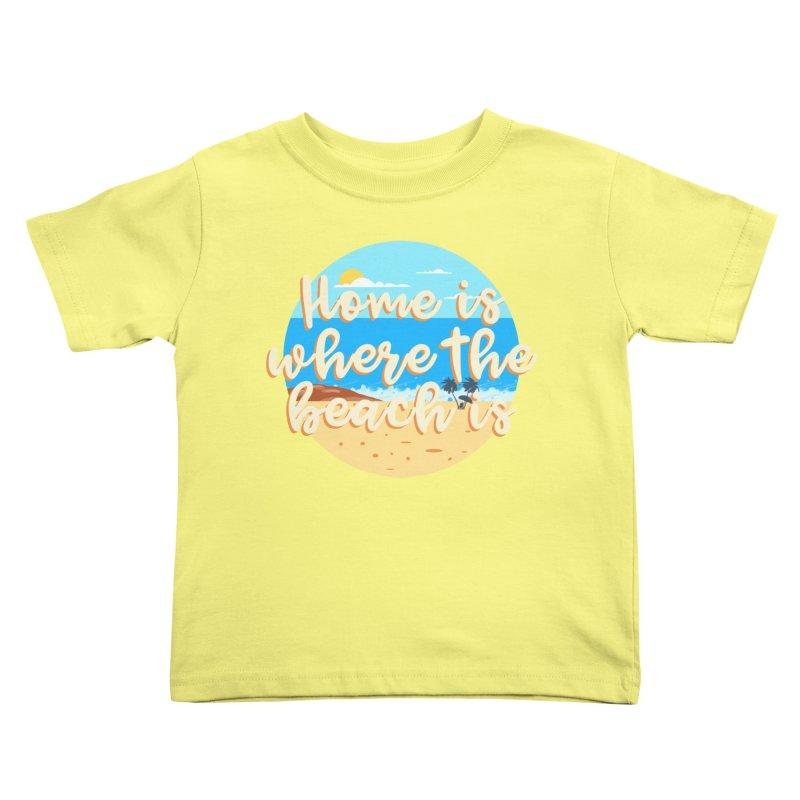 BeachLovers Kids Toddler T-Shirt by ExplorerTales's Artist Shop