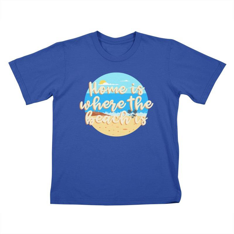 BeachLovers Kids T-Shirt by ExplorerTales's Artist Shop