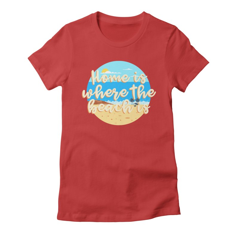 BeachLovers Women's Fitted T-Shirt by ExplorerTales's Artist Shop
