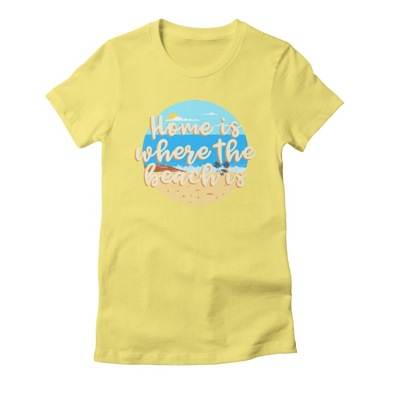 BeachLovers Women's Fitted T-Shirt by ExplorerTales's Artist Shop