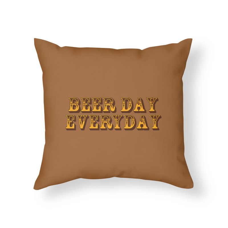 National Beer Day Home Throw Pillow by ExplorerTales's Artist Shop
