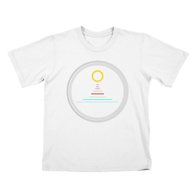 Minimalistic-Solar-system Kids T-Shirt by ExplorerTales's Artist Shop