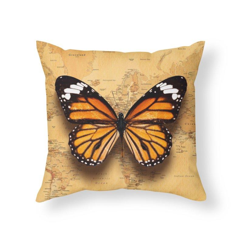 Wanderlust Home Throw Pillow by ExplorerTales's Artist Shop